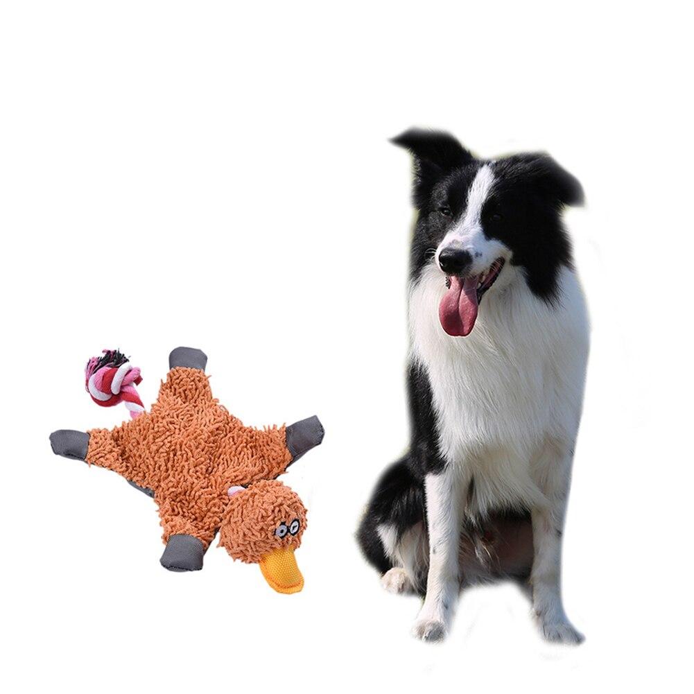 Dog Squeaky Toy Papa Duck Making Sound Plush Puppy Chew