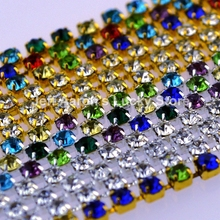 100CM metal 3d nail art decorations rhinestone claw chain cell phone glitter jewelry nails accessoires nail supplies tools