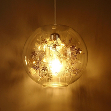 Modern Tangel Globe Flower Light Pendant Lamp Ac 90-260v Glass novelty Lighting Fixture for bar restaurant bedroom