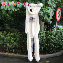Niuniu Daddy huge Teddy bear skin Semi-finished Plush dolls bear Toys stuffed animals 230 cm(China)
