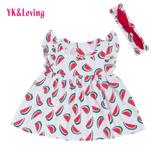 Little Girls Cute Dress with Flare Sleeve Toddler Kids Baby Clothes Free Shipping 2017 Cheap Dresses for Second Birthday Party(China)