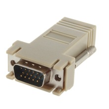 High Quality Network Cable Adapter VGA Extender Male To LAN CAT5 CAT5e CAT6 RJ45 Female