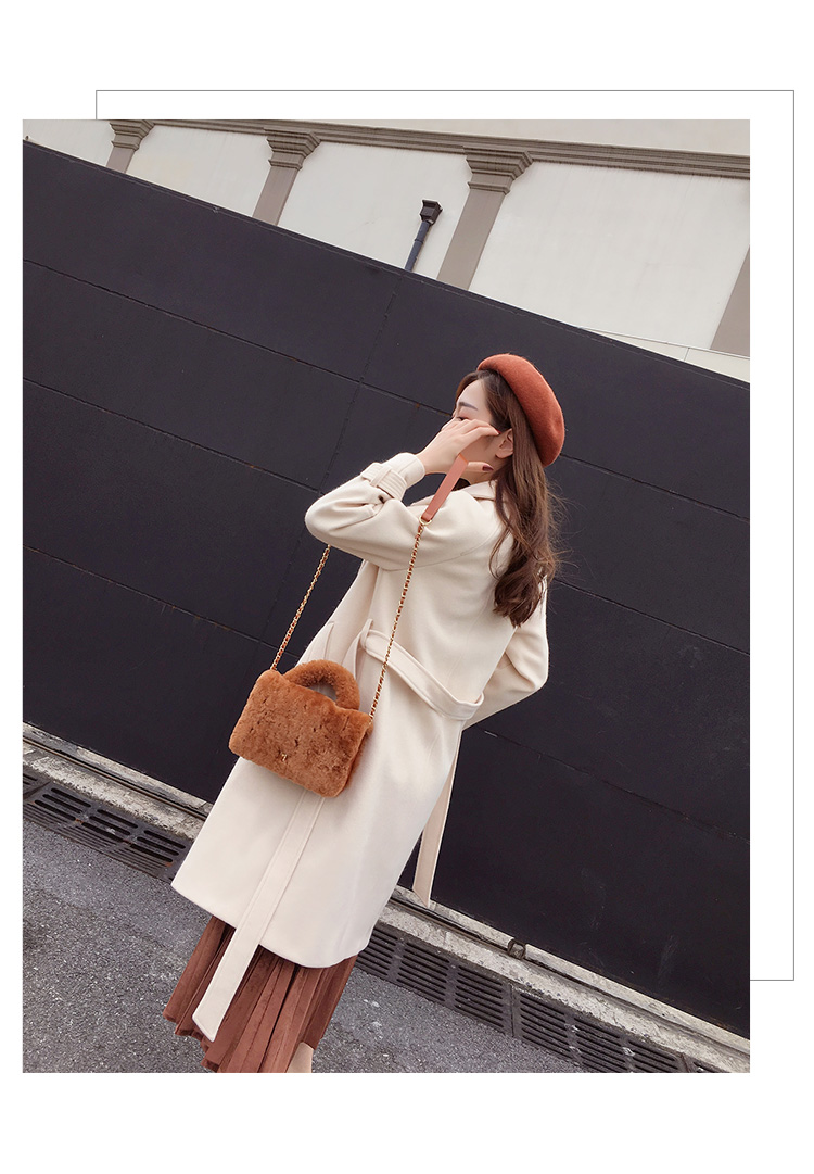 Mishow 19 autumn and winter woolen coat female Mid-Long New Korean temperament women's popular woolen coat MX17D9636 16