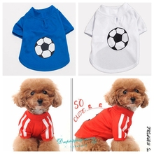 New Pet Dog Cat Clothes Spring Summer Football Pattern Teddy Puppy Thin Sweatshirt Jersey Pet Supplies Dog Vests 2016 New