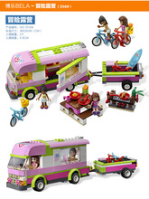 friends girl friends Heart Lake City Stories series assembled  toys fight inserted puzzle adventure camping  Camping Adventure