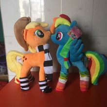 40cm Kawaii Sweet Rainbow Horse Plush Toys PP Cotton plush Doll Toys for Children Toys Colorful Rainbow Horse