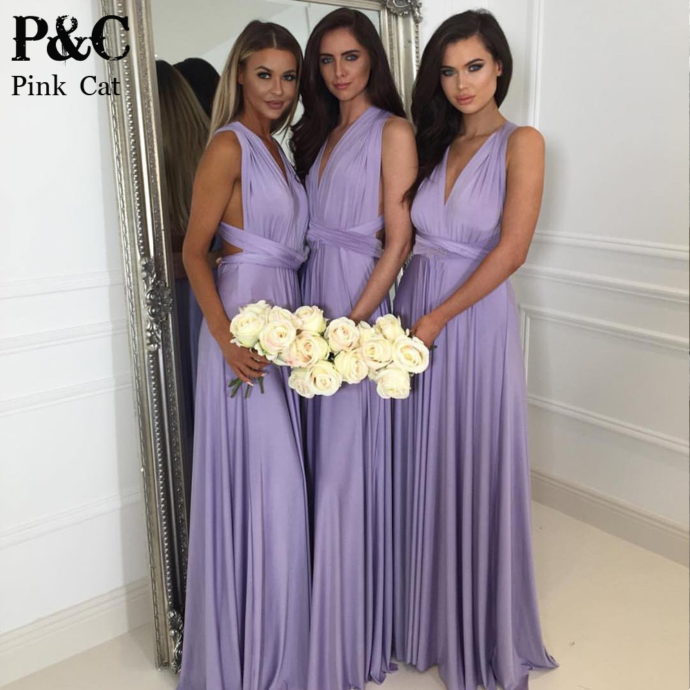 Bridesmaid dresses queen promotion shop for promotional bridesmaid 2017 summer sexy women maxi dress purple long dress sexy multiway bridesmaids convertible dress robe longue femme ombrellifo Image collections