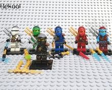 60pcs/lot ninjagoes toys  Kai Jay Cole Zane Nya Lloyd Dark Ghost action figure Compatible legoin Blocks kid Toys New Year gift