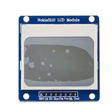 Free shipping! Blue Backlight LCD Module Adapter PCB for Nokia 5110 For Arduino