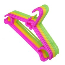 10PCS Non-Slip Plastic Kids Children Toddler Baby Clothes Coat Hangers Hook(China)