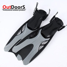 Shipping Free 5 color adjustbale 36-47  Swimming Flipper Diving Fins Water rubber swimming fins  Diving New Surf/Swim Fins