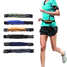 CTDSGW000343 Fabric Waterproof Running Waist Bag Outdoor Sports Anti Theft Slim Cell Phone Cycling Waist Bag Belt Pockets Case