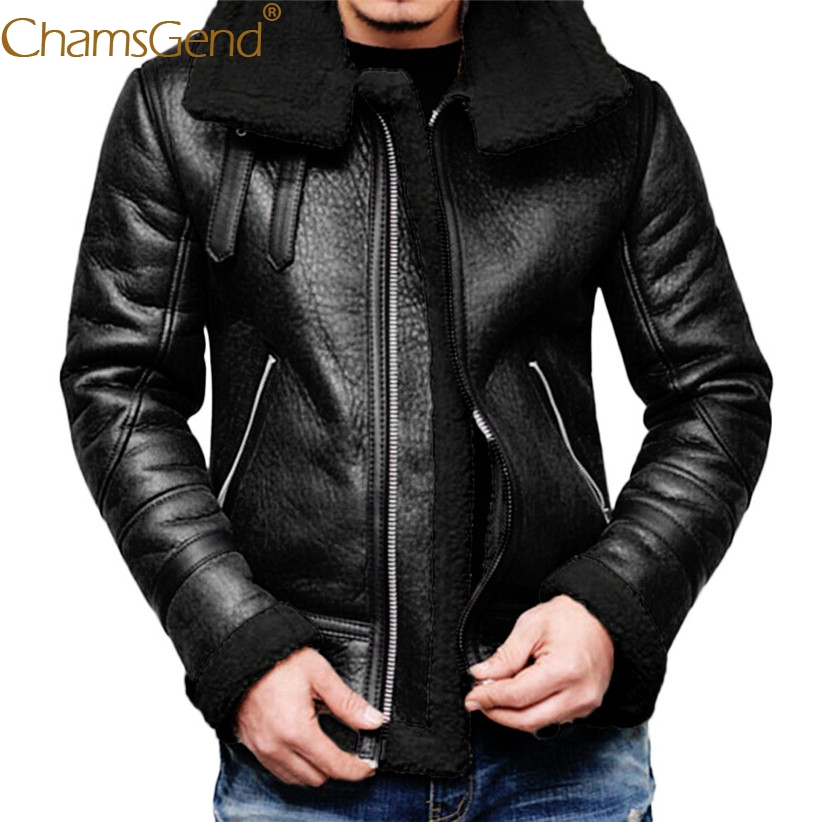 Newly Design Winter Men Leather Jacket Turtleneck Fur Liner Zipper Coat Moto Cycling Windproof Outfit Men Warm Jackets 81106