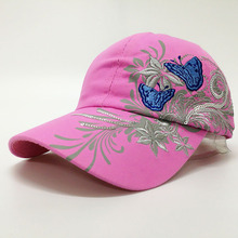 The New Fashion Baseball Cap FLOWER&BUTTERFLY Snapback Cotton Hat For Women Girl Sport Sun Hat Gorras Planas Casquette