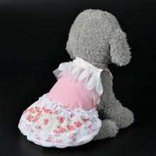 Chiffon Dog Dress Summer Pet Clothes Skirt Elegant Floral Dresses for Small Dogs Skirts Luxury Princess Dog Clothes 25(China)