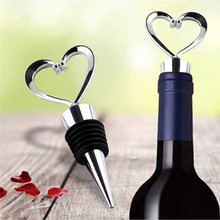 Heart Shaped Wine Stopper Twist 1Pcs Elegant Alloy Champagne Bottle Stopper Valentines Wedding Favors Gifts Bar Accessories Tool