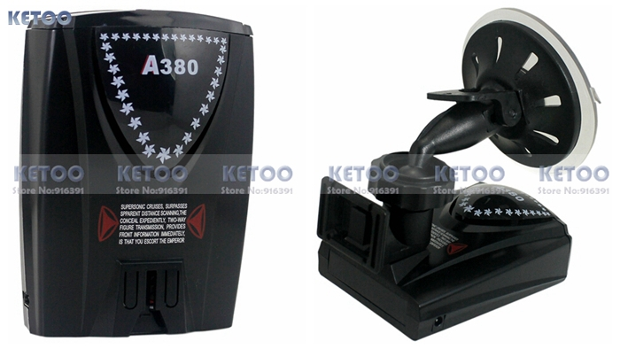 Car Radar Detector A380  Russian Voice Full Band Alert Laser Defense System Compatible with GPS Navigator With Russian Voice<br><br>Aliexpress