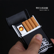 Multifunctional cigarette case with USB charging lighter Creative automatic cigarette box electronic cigarette lighter