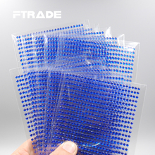 750Pcs/set 3mm Blue Color 3D Decal Art DIY PC Stickers Rhinestones Wall Stickers For Home Decal Mual Art