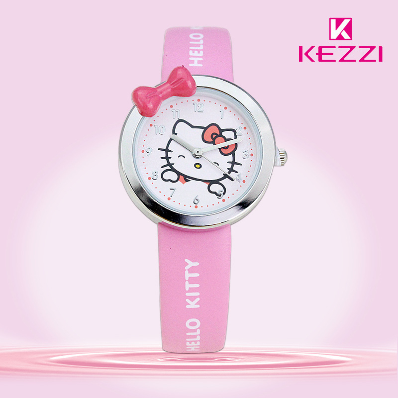Free Shipping Kezzi Kids Watches K446 Quartz Analog Cartoon Bear Leather Strap Wrist Watch Boys Girls Waterproof Wristwatches<br><br>Aliexpress