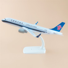 20cm Metal Alloy Plane Model Air China Southern Airlines Airbus 320 A320 Airways Airplane Model w Stand Aircraft Gift(China)