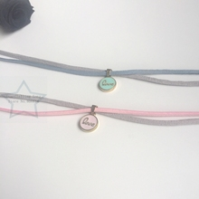 Handmade Love Round Style Charm Suede Fabric & Stainless Steel Jewelry Choker Necklaces
