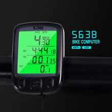 Buy Sunding SD 563B Waterproof LCD Display Cycling Bike Bicycle Computer Odometer Speedometer Green Backlight Oversea warehouse for $4.85 in AliExpress store
