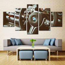 Forbeauty 5 Piece Canvas Painting Spray Printings Art Picture Movie Poster BMW The steering wheel