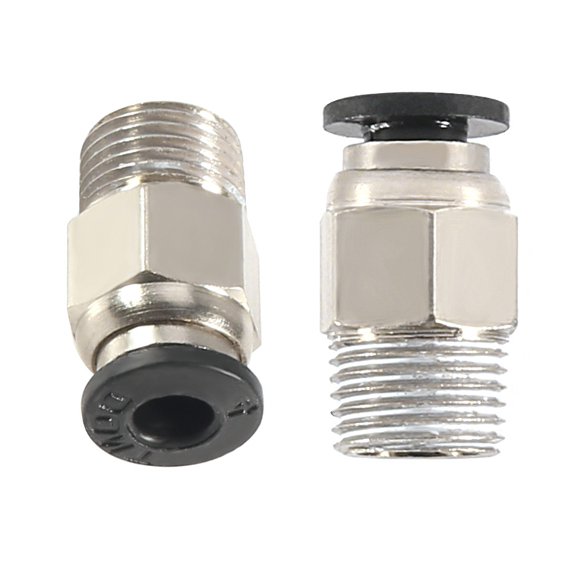 3D Printer 8mm 12mm Push in PTFE Tube Fitting Pneumatic Connector Reprap Parts