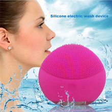 Electric Face Cleaner for women Silicone Vibrator Cleansing Brush Ionic Massager Facial cleanser Massage Anti-Aging Skin Care(China)