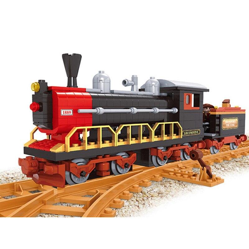 406pcs Old-Fashioned Train F Building Blocks Hobby Assemblage Enlighten Bricks Children Educational Toys Children Gifts<br>