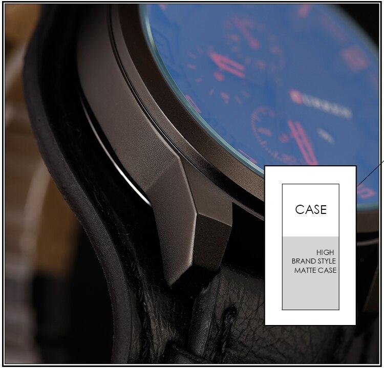 Relogio Masculino Mens Watches Top Brand Luxury Leather Strap Waterproof Sport Men Quartz Watch Military Male Clock Curren 8225 25