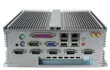 Embedded Computer IPC Fanless Mini Industrial BOX PC For Intel D2550 CPU 6 COM \ LPT \ 2 Giga Ethernet \ VGA \ PCI Barebone 12V
