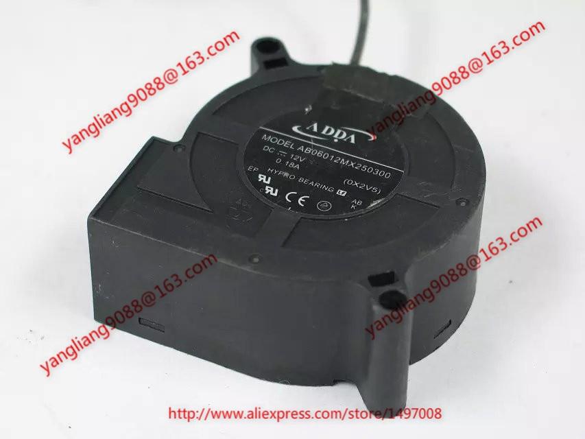 ADDA  AB06012MX250300 (OX2V5)  DC 12V 0.18A 3-wire 3-pin connector 50mm 40x40x28mm     Server Blower fan<br>