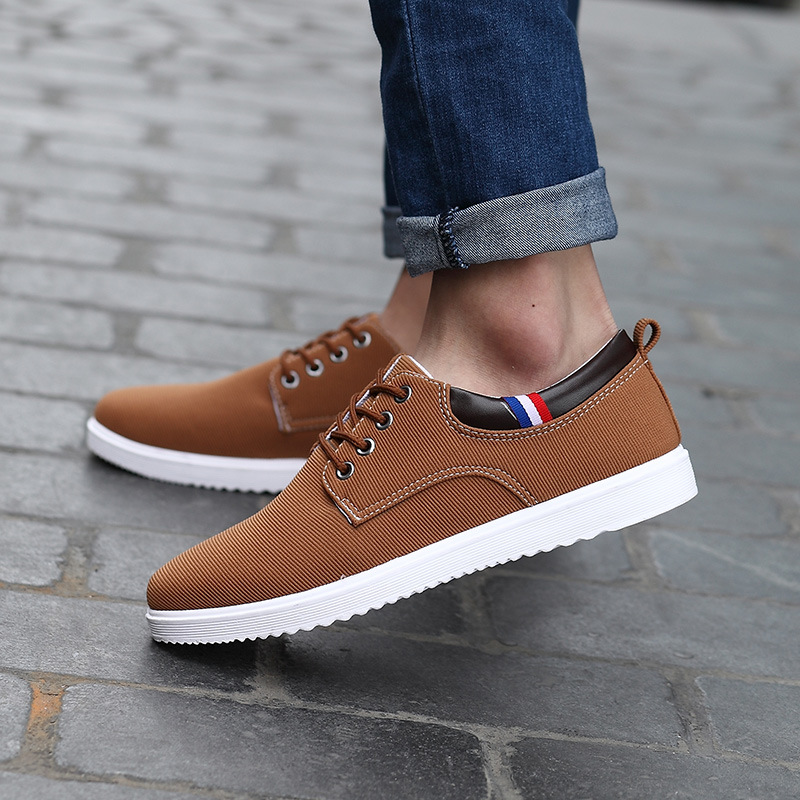 30% OFF  Spring Wild Casual Mens Shoes Pure Color Comfortable Breathable Men Shoes Large Size<br><br>Aliexpress