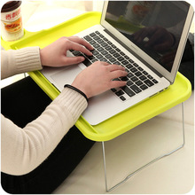 Computer Desks office home bed Furniture panel laptop desk whole sale 2017 good price functional 44.5*29*19cm portable foldable(China)