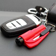 1pc Pocket Auto Emergency Escape Rescue Tool Glass Window Break Safety Hammer with Keyring Seat Belt Knife Cutter