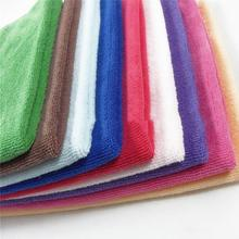 Face Hand Car Cloth Towel Square Luxury Soft Fiber Cotton House Cleaning Cloth 10pcs/lot Random Color(China)