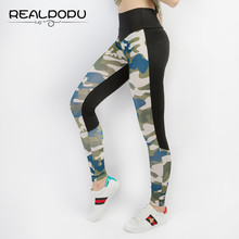 Buy Realpopu 2017 Camouflage Patchwork Sexy High Waist Workout Fitness Legging Summer Adventure Time Push Leggings Women Pants for $9.91 in AliExpress store