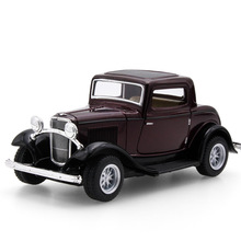 Hot Diecast Vintage Car Modles Without Sound & Light Children Pull Back Toys Classic car for Ford 1932 Home decor Iron Craft(China)