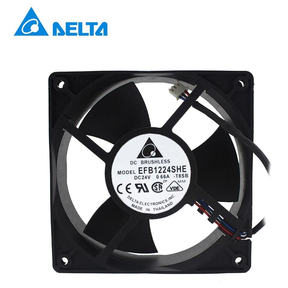 Shipping New EFB1224SHE 24V 0.66A 12cm12038   inverter cooling fan Delta<br>