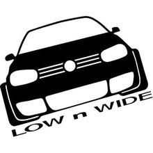 15.5X12.2CM LOW N WIDE Individualization Car-styling Car Sticker Vinyl Decal Black/Silver S8-0410