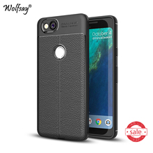 Phone Case sFor Google Pixel 2 Cover Litchi Pattern Case Soft TPU Wolfsay For Case Google Pixel 2 Cover For Google Pixel2 Funda!(China)