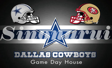 Home Dallas Cowboys Divided San Francisco 49ers Helmet 90*150cm Custom Flags Banners White Sleeve Gromets(China)
