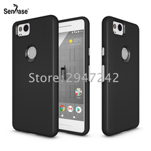 For Google Pixel 2 Case 5.0 inch Soft Silicone Hard PC Combo Aluminum Button Shockproof Cover For Google Pixel 2 Case Shell Capa(China)