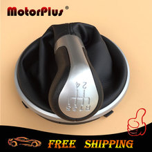 For Skoda Fabia 2 II MK2 2007 2008 2009 2010 /Roomster 2006-2010 Car Gear Shift Knob With Leather Gaiter Boot 5 Speed 5J0711113F