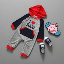 """I love Mom and Dad"" Baby Rompers, Fashion Children's Romper,Long Sleeves Lovely Comfortable Baby'sClothes"