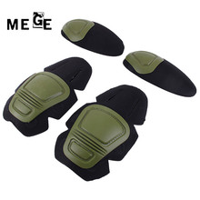 MEGE Tactical Knee and Elbow Protector Pad For Paintball Airsoft Combat Uniform Military Suit, 2 knee pads & 2 elbow pads/Set