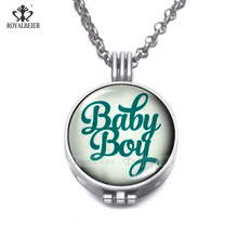 RoyalBeier Essential Oil Diffuser Necklaces With Foams Baby Boy Baby Girl Perfume Locket Pendant For Women Charming Jewelry(China)