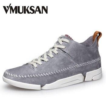 VMUKSAN Zapatos de Los Hombres Zapatos de Gamuza de Cuero de Moda Atan Para Arriba Para Hombre Zapatos Casuales
